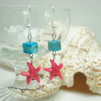 Starfish Earrings, Beach Jewelry