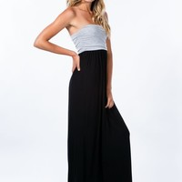 Two To Two-Tone Strapless Maxi Dress