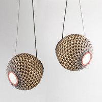 knitted modern lighting , padent light , light balls , contemporary design , handmade lighting