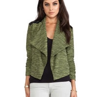 Hedia Moto Jacket in Limeade