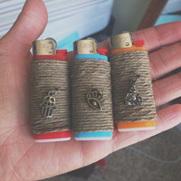 Hemp Wrapped Lighter (mini)