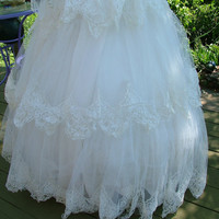 Vintage 1950s wedding dress bridal gown by RetroVintageWeddings