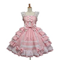 Ladies lolita Victoria maidservant outfit cafe attendant Adult Fancy Dress lace Princess Dress With Bowknot cosplay costume