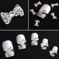 JADE Onlines 20x 3d Clear Alloy Rhinestones Jewelry Bow Tie Nail Art DIY Decorations Tips Ongle:Amazon:Arts, Crafts & Sewing