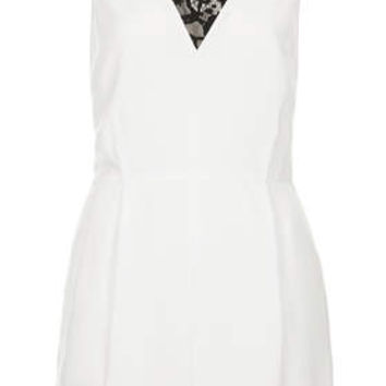 Lace Front Playsuit - Ivory