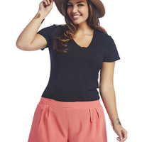 Laser Cut Soft Short | Wet Seal+
