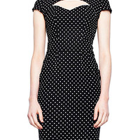 Polka Dot Pinup Pencil Dress