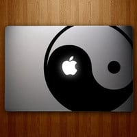 Ying Yang Mac Decal Macbook