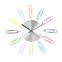 Wall Clock and Paper Clip Photo Holder