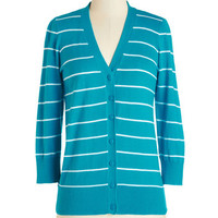 ModCloth Scholastic 3 Well-Deserved Weekend Cardigan in Turquoise