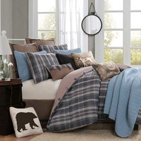 Hadley Plaid Comforter Set : Log Cabin Styles