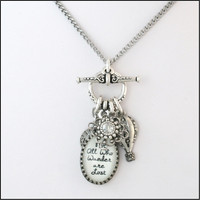Silver Inspirational Charm Necklace Charm by BlackberryDesigns