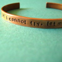 Custom Cuff Bracelet in Copper hand stamped on by SpiffingJewelry