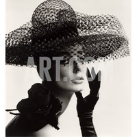 Tania Mallet in a Madame Paulette Stiffened Net Picture Hat, 1963 Giclee Print by John French at Art.com