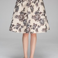 Full midi skirt in brocade