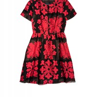 Cynthia Rowley - Hawaiian Quilt Print Short Sleeve Dress | Cynthia Rowley Dresses
