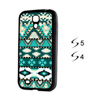 Aztec Green Stripes Samsung Galaxy S5 and Galaxy S4 Case