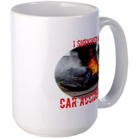 I Survived A Car Accident Large Mug by survivedcrash- 342099524