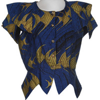 African Fish Print Short Sleeved Jacket | Jackets & Coats | Rokit Vintage Clothing