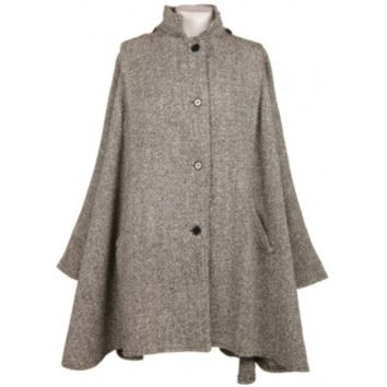 Tweed Cape Black & White | Jackets & Coats | Rokit Vintage Clothing