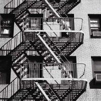 Fire Escape on Apartment Building Photographic Print by Henry Horenstein at Art.com
