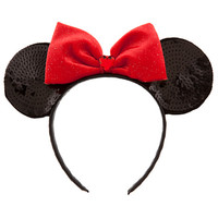 Sequined Minnie Mouse Ears Headband