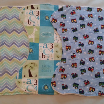 Baby Boy Burp Clothes Gift Set 3 pieces