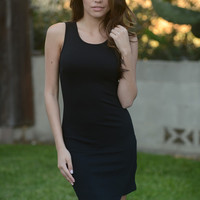Sleeveless Leafed Bodycon Dress - Black | Fashion Nova