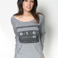 Glamour Kills Clothing - MIXTAPED CREWNECK GIRLS PULLOVER SWEATSHIRT