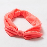 's Pink Bow Headband (Neon Pink)