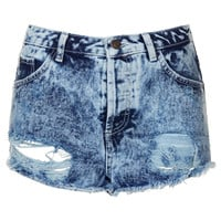 MOTO Ripped Highwaisted Shorts