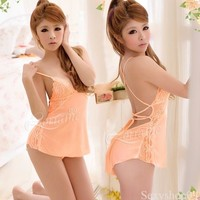 New Sexy Lingerie babydoll costume dress outfit Nightie Gown Pajamas Outfit New