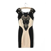 MP Floral Bodycon Dress with Lace Detail MDP 0705