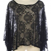 EVENING LACE CUT OUT BACK TOP-Dressy-Womens Dressy Tops,Dressy Top For Women,Fashion Dressy Tops,Trendy Dressy Tops,Promo Dressy Tops