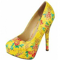FLORAL HEELS-Heels-prom heels,high heels shoes,leopard heels,hot pink heels,cheap heels,party shoes heels,sexy heels,Platform Heels,high heel pumps,Wedge Heels,Flat Heels