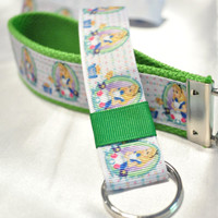 Alice in Wonderland keychain lanyard set