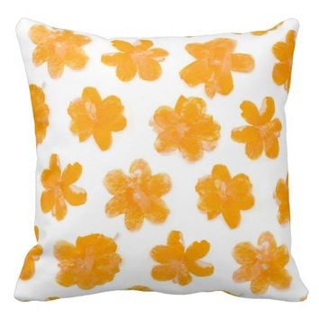 Flowering In Orange - Pillow