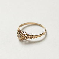 Vintage Lattice Diamond Ring