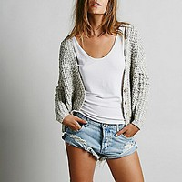 Free People Womens High Low Cardigan -