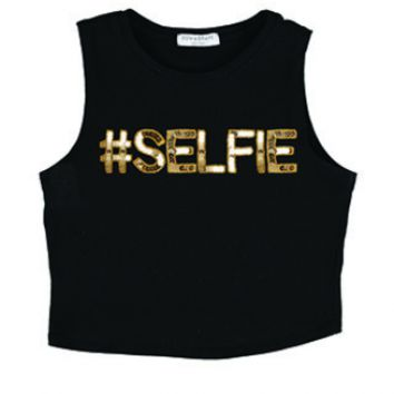 #Selfie Miley Crop - Women's Online Clothing Boutique, Bow & Drape, Custom T Shirts