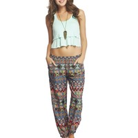 Multi-Stripe Tribal Jogger Pants | Wet Seal