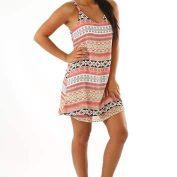 Bending Corners Dress: Multi
