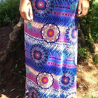 Purple and Blue's Boho Maxi Skirt