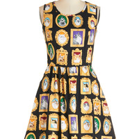 ModCloth Cats Sleeveless A-line Mew-seum Visit Dress