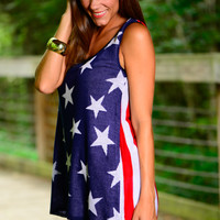 Star Spangled Tank, Red/White/Blue