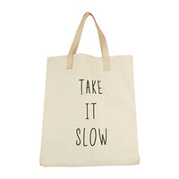 TAKE IT SLOW Print Tote Bag