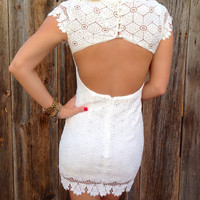 Open Back Crochet Dress