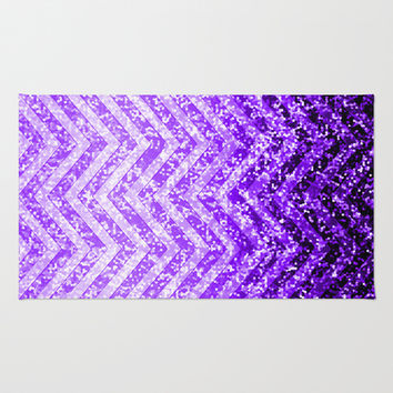 Zig Zag Sparkley Texture G229 Area & Throw Rug by MedusArt