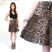 Vintage Leopard Mini Full Drawstring Circle by theVintageSideShow