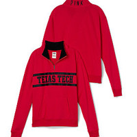 Texas Tech Boyfriend Half Zip - PINK - Victoria's Secret